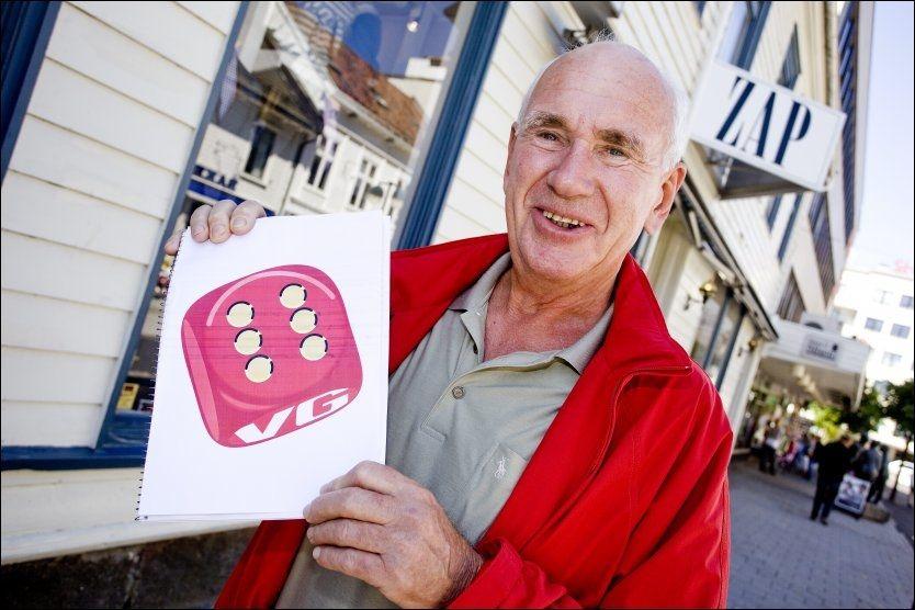 HVOR LYKKELIGE ER NORDMENN? Pensjonist Gunnar Mykland (65) gir terningkast 6 på livet sitt. Foto: PETTER EMIL WIKØREN/VG