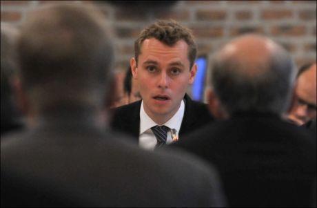 FORBIGÅTT: Sps nestleder og Olje- og energiminister Ola Borten Moe anser ikke Arnstad som noen trussel. Foto: Ned Alley, NTB Scanpix