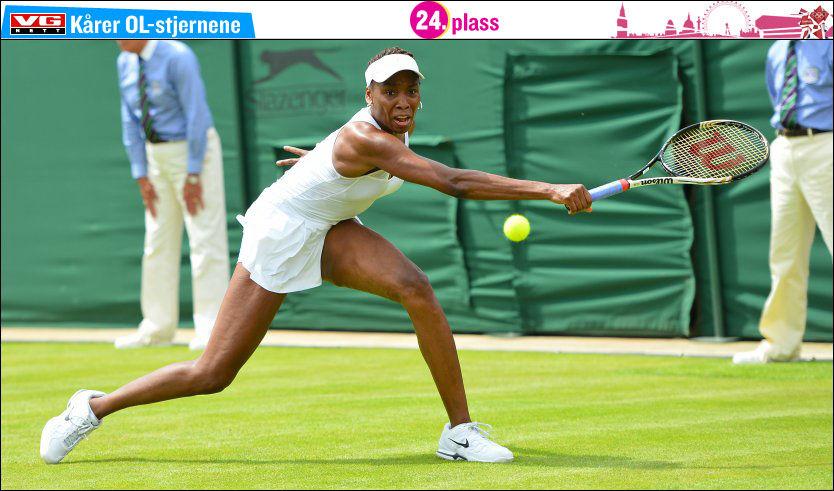 KAN TA SITT FJERDE OL-GULL: Venus Williams vil med OL-gull i London ta sitt fjerde OL-gull i tennis. Foto: Afp