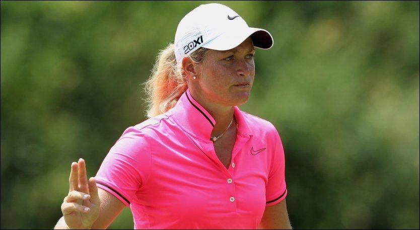 LEDER: Den norske golfspilleren Suzann Pettersen leder for øyeblikket US Open. Foto: Afp/ Scott Halleran