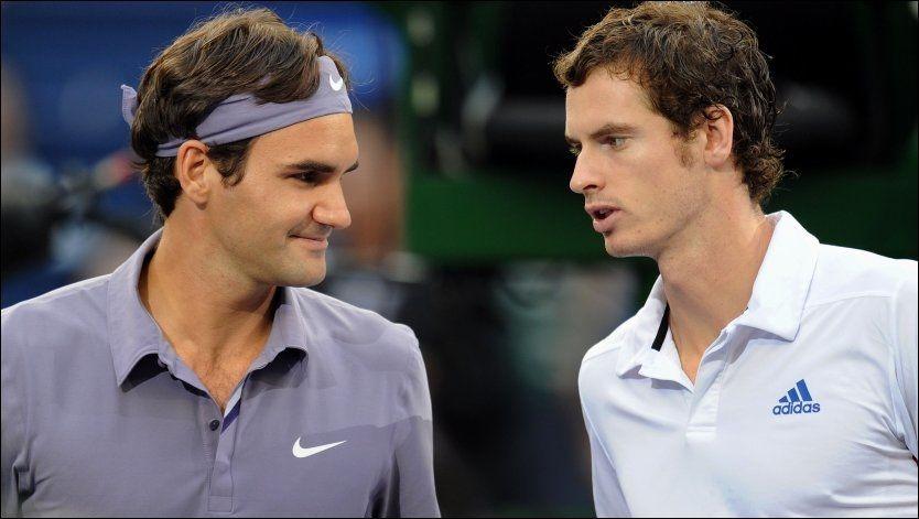 MESTERMØTE: Søndag møtes sveitsiske Roger Federer og skotske Andy Murray til årets single-finale i Wimbledon. Foto: Afp/ Frederic J. Brown