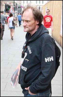 - BILLIG: Rusmisbruker Nils Krister Modin mener narkoturistene oppsøker Oslo fordi heroinet her er mye billigere og lettere å få tak i enn andre steder i landet. Foto: Bjørn-Martin Nordby/VG