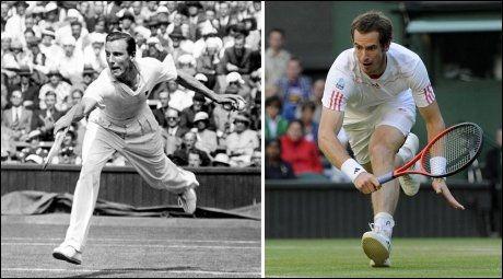1936: Ikke siden Fred Perry vant Wimbledon i 1936 har en brite vunnet turneringen på herresiden. Søndag kan Andy Murray bryte forbandelsen. Foto: Pa Photos