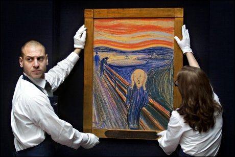 """VERDENS DYRESTE: Edvard Munchs verdenskjente maleri """"Skrik"""" ble solgt fra nordmannen Petter Olsen for hele 615,4 millioner kroner i mai. Foto: Fredrik Solstad, VG"""
