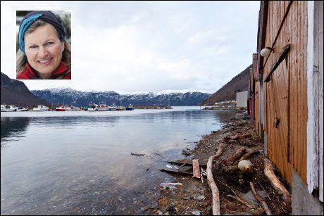 BORTGJEMT PERLE: Kristin Krohn Devold (50), generalsekretær i DNT, drømmer seg ofte tilbake til Norddal om sommeren. Dette bildet er rett nok fra en annen årstid. Foto: Scanpix