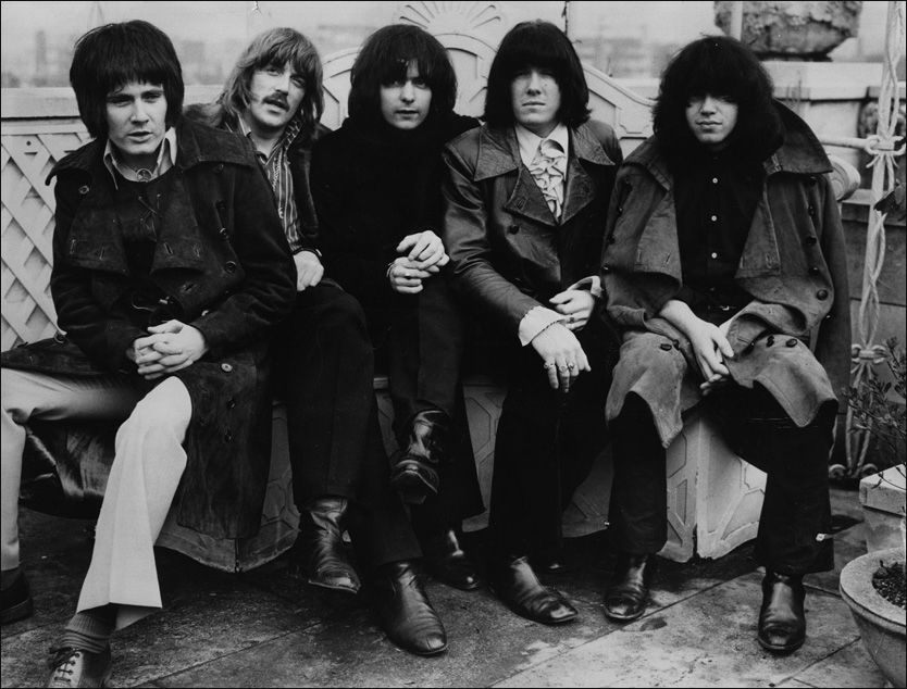 LEGENDER: Deep Purples storhetstid startet i 1969. Samme år ble dettebildet tatt av de daværende medlemmene (fra høyre) Ron Evans, Jon Lord, Ritchie Blackmore, Nicky Simper og Ian Paice. Foto: Getty Images/All Over Press