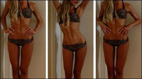 KRITISERT: Caroline Berg Eriksen har fått mye kritikk etter at hun la ut disse bildene på bloggen sin. Foto: privat.