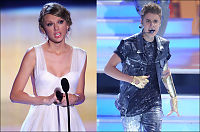 Justin Bieber og Taylor Swift kuppet Teen Choice Awards