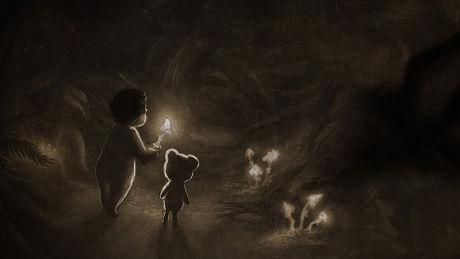 BABY-SKREKK: Spillselskapet Krillbite har allerede fått over en halv million visninger på YouTube av traileren for deres horror-spill «Among the Sleep». Her spiller du som et to år gammelt barn. Foto: KRILLBITE