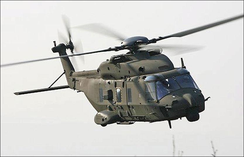 ETT HELIKOPTER LEVERT: De 14 nye NH90-helikoptrene skulle vært levert fra 2005 til 2008, men bare én maskin er satt i drift. Foto: NH Industries