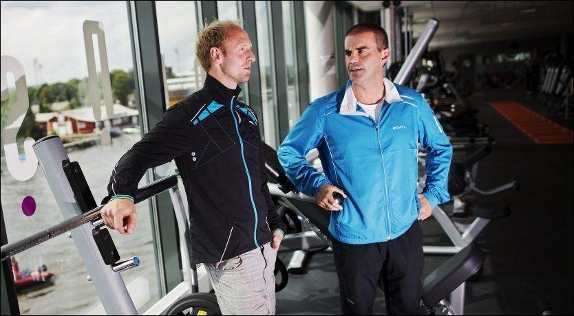 STARTER TRENINGSSENTER: Hans Erik Ramberg og Morgan Andersen har gått sammen for å starte treningssenter midt i Fredrikstad. Foto: Jørgen Braastad