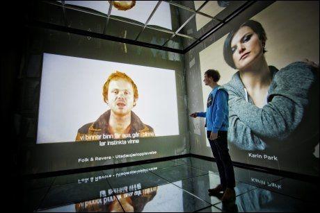 INNIROCKENOPPLEVELSE: Rockheim er et svært interaktivt museum. Her er guide Gaute Bragtvedt. Foto: ØYVIND NORDAHL NÆSS/VG