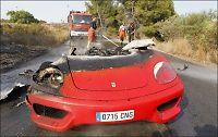 Valencia-spillerens Ferrari til 1,8 millioner brant opp