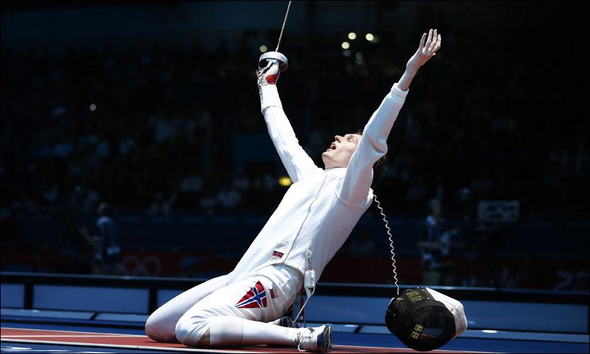 ØYEBLIKKET: Barthoz Piasekci jubler hemningsløst over seieren i OLs kvartfinale. Foto: NTB Scanpix