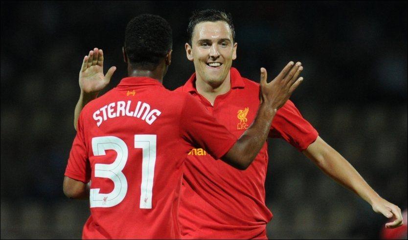 MATCHVINNER: Stewart Downing ble matchvinner for Liverpool, da de slo Gomel 1-0 i Europa League-kvalifiseringen. Foto: Afp