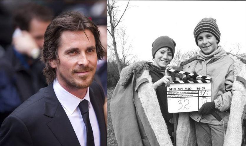 FØR OG NÅ: Christian Bale(t.h) startet sin skuespillerkarriere i en Astrid Lindgren-film. Foto: SF Norge/Pa Photos
