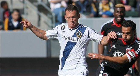HENTET TIL VIF: Chad Barrett i en kamp for Los Angeles Galaxy mot D.C. United 18.mars i år. Foto: Afp/ Victor Decolongon