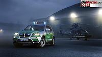 BMW med blålys