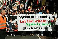 Hundrevis demonstrerte for Syrias president i Sydney