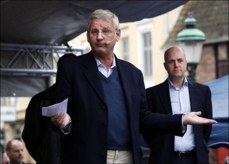- NÅR NYE HØYDER: Sveriges utenriksminister Carl Bildt mener Hviterusslands president Aleksandr Lukasjenkos frykt for menneskerettigheter når nye høyder. Foto: Björn Lindahl / Aftonbladet