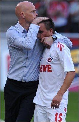 GAMLE KJENTE: Ståle Solbakken og Slavomir Peszko. Foto: PATRIK STOLLARZ, AFP