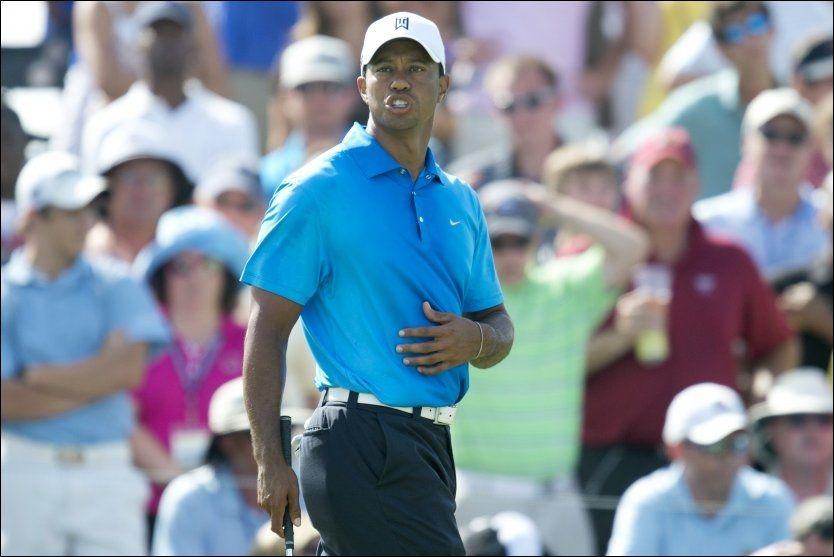 I FØRINGEN: Tiger Woods leder halvveis i turneringen. Foto: Don Emmert, AFP
