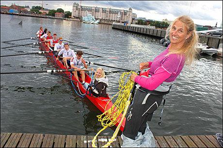 ANDRE FORSØK: Den nye rekorden på 100 meter vannski etter robåt lyder på 17,11 sekunder, satt i andre forsøk. Foto: Mikkel Thommesen.