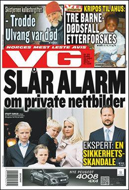 Les mer i dagens papir utgave av VG. Foto: Faksimile: VG