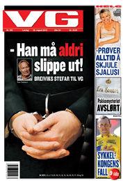 VAR RESERVEPAPPA: Tore Tollefsen så fredag sin tidligere stesønn få Norges strengeste straff - 21 års forvaring. Foto: Faksimile: VG