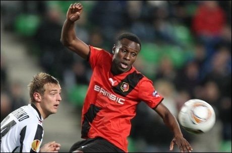 TIL WOLVES: Razak Boukari forlater Rennes og er klar for Ståle Solbakkens Wolves. Foto: Ap