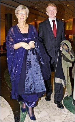 GIFT: Tove Strand og Tor Saglie sammen på NHO-middagen i 2005. Foto: Espen Sjølingstad Hoen