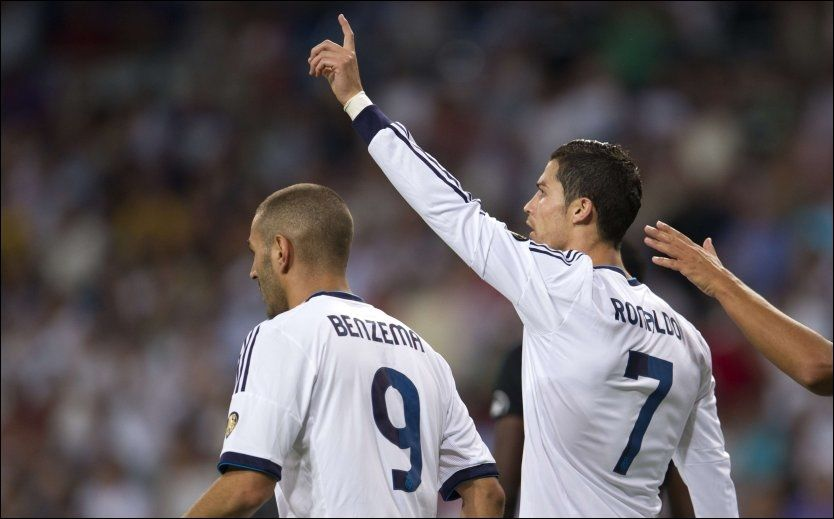 SCORET TO: Cristiano Ronaldo scoret to mål da Granada ble slått 3-0 søndag. Foto: Afp
