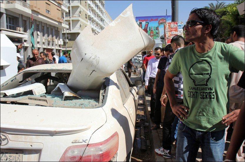 Bilbombe eksploderte i Libya