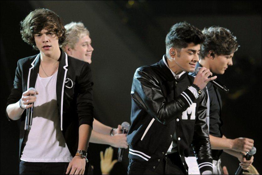 ONE DIRECTION: Etter gjennombruddet med «X Factor» har det bare gått én retning for det britiske bandet. Nå får de også beholde navnet. Foto: AP.