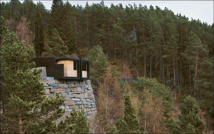 TOALETT MED UTSIKT: Toalettanlegget ved Stegastein utsiktsplass, Nasjonal turistveg Aurlandsfjellet. Foto: STATENS VEGVESEN