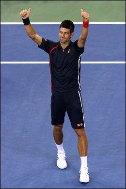 SLO DEL POTRO: Novak Djokovic imponerte. Foto: AFP