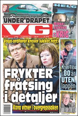 DAGENS VG: Les mer om saken i dagens papiravis. Foto: Faksimile