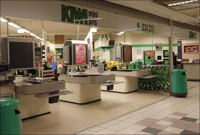 VASKEMIDLER: På denne Kiwi-butikken kjøpte den drapssiktede 37-åringen vaskemiddel. Politiet gransker nå innkjøpshistorikken til begge de drapssiktede. Foto: Jan Petter Lynau / VG