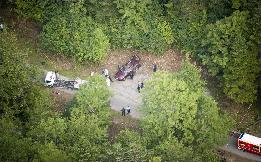 ÅSTEDET: Her ble tre familiemedlemmer og en syklist skutt og drept på onsdag. Foto: ROLAND HOSKINS, DAILY MAIL, SOLO SYNDICATION, NTB SCANPIX