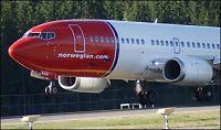 Nærkontakt mellom to Norwegian-fly