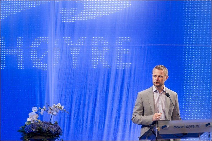 VIL ENDRE REGLENE: Bent Høie taler om Norge 2030 på Høyres landsmøte i mai. Som nestleder i partiet fronter han et forslag om å frata tros- og livssynssamfunn vigselsretten. Foto: Terje Bendiksby, NTB Scanpix