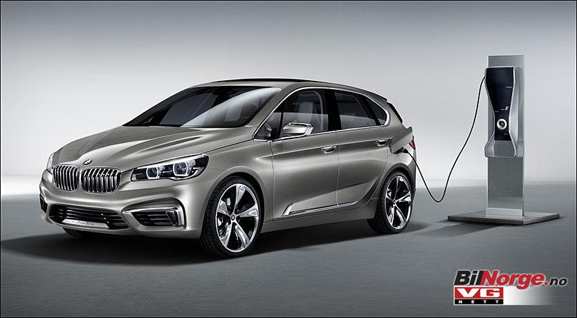 LITE TYPSIK: BMW er kjent for å lage konseptbiler som ligger svært nær produksjonsbilene, som i sin tur gjerne dukker opp et års tid senere. Så det er ikke usannsynlig at vi får se en 1-serie GT neste år, blant annet som plug-in hybrid, men sikkert også med konvensjonelle drivlinjer. Foto: Produsent