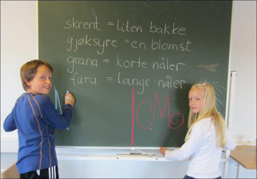 MOTSTANDERE: Tiåringene Arman Lange og Marie Hammergren i femte klasse på Grefsen skole synes det er tidsnok med karakterer når de begynner på ungdomsskolen. Foto: Frank Ertesvåg