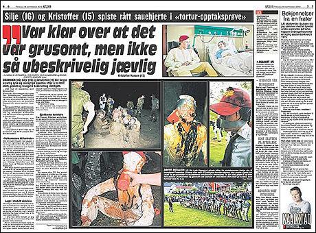 Se flere bilder fra opptaksritualene i dagens VG Foto: