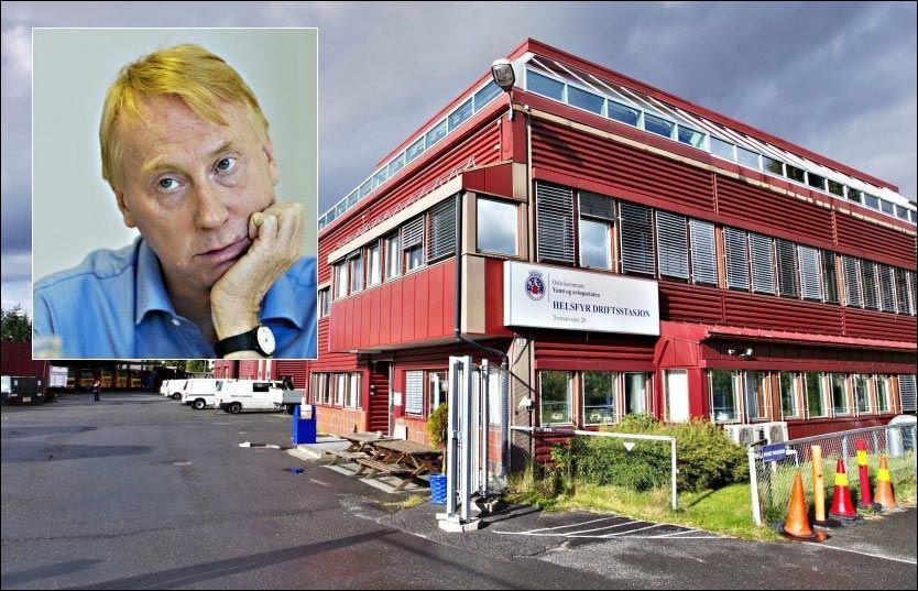 ARBEIDSPLASS: Driftsstasjonen og verkstedet til Vann- og avløpsetaten ligger på Helsfyr i Oslo. Ifølge direktør Per Kristiansen (bildet) er det flere ansatte som har drevet med «snausing».