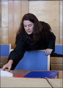 LETTET: Bistandsadvokat Hege Salomon sier hennes klient er fornøyd med dommen. Her er hun under først runde i tingretten. Foto: Marie von Krogh