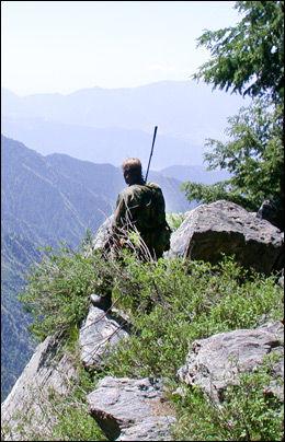GOD UTSIKT: En norsk spesialjeger speider ut over en dal i Øst-Afghanistan våren 2002. På denne tiden var norske spesialstyrker en del av Operation Enduring Freedom, som jaktet Osama bin Laden. Foto: FSK/HJK