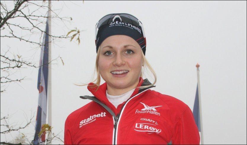 I HEERENVEEN: Hege Bøkko før verdenscupløpet på fredag. Foto: Øystein Jarlsbo, VG