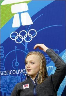 10.PLASS: Hege Bøkko under en pressekonferanse i Olympic Village i Vancouver 2010. Foto: NTB Scanpix