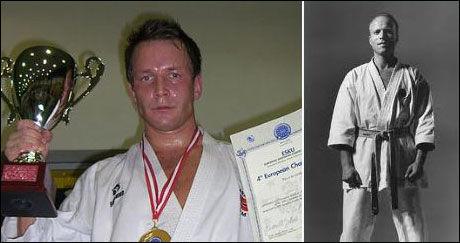 DET STORE FORBILDET: Stein Rønning (t.h.) døde etter kort tids sykdom i 2008. Steffen Larsen motiveres av å hedre læremesterens minne. Foto: PRIVAT